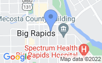 Map of Big Rapids MI