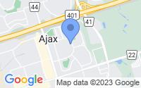 Map of Ajax ON