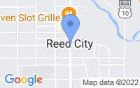 Map of Reed City MI