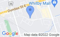 Map of Whitby ON