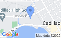 Map of Cadillac MI