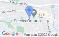 Map of Barrie ON