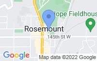 Map of Rosemount MN