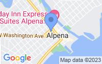 Map of Alpena MI