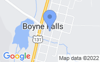 Map of Boyne Falls MI