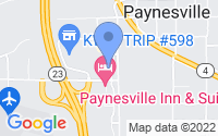 Map of Paynesville MN