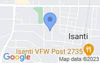 Map of Isanti MN