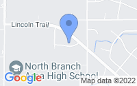 Map of North Branch MN