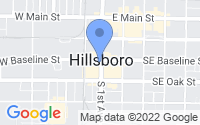 Map of Hillsboro OR
