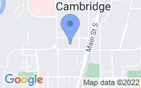 Map of Cambridge MN