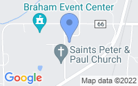 Map of Braham MN