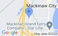 Map of Mackinaw City MI