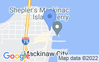 Map of Mackinaw City MI