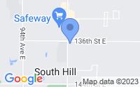 Map of South Hill WA