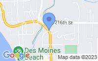 Map of Des Moines WA