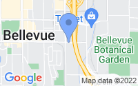Map of Bellevue WA