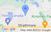 Map of Strathmore AB
