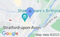 Map of Stratford-upon-Avon Warwickshire