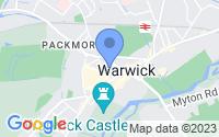 Map of Warwick Warwickshire