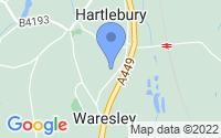 Map of Kidderminster Worcestershire