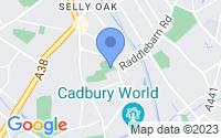 Map of Birmingham West Midlands