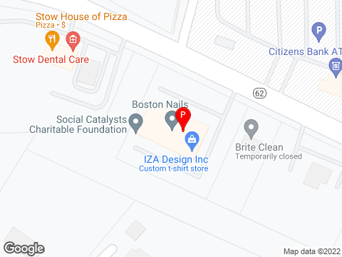Google Map of 132 Great Rd Stow, MA 01775