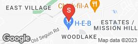 Location of Lockaway Storage Woodlake in google street view