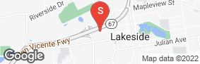 Location of Secure Self Storage - Lakeside in google street view