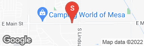 Location of Mesa East Storage Solutions in google street view
