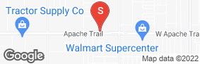 Location of Apache Junction - E Apache Trail in google street view