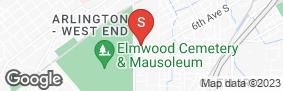 Location of Iron Guard Storage - Birmingham - 6th in google street view