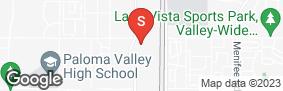 Location of Staxup Storage - Menifee in google street view