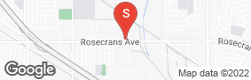Location of A-American Self Storage - Rosecrans Ave in google street view