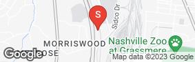 Location of 100 Oaks Self Storage in google street view