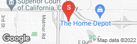 Location of Pioneer Self Storage in google street view