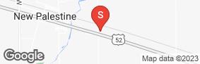 Location of New Palestine Self Storage in google street view