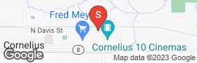 Location of Cornelius Self Storage in google street view