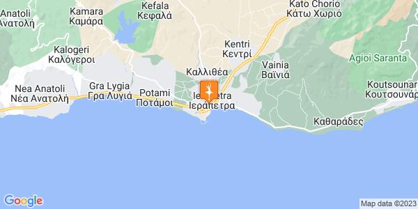 Google Map of Γιαννάκου 25, Ιεράπετρα 722 00, Ελλάδα