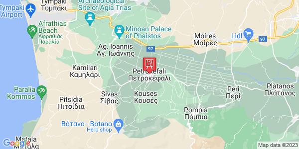 Google Map of Petrokefali 704 00, Greece