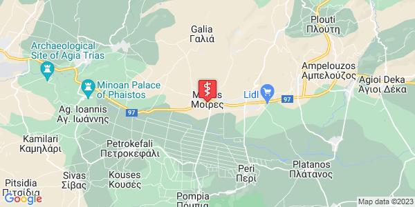 Google Map of 28ης Οκτωβρίου 135, Μοίρες 704 00, Ελλάδα