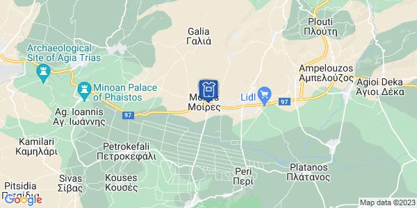 Google Map of 25ης Μαρτίου 176, Μοίρες 704 00, Ελλάδα