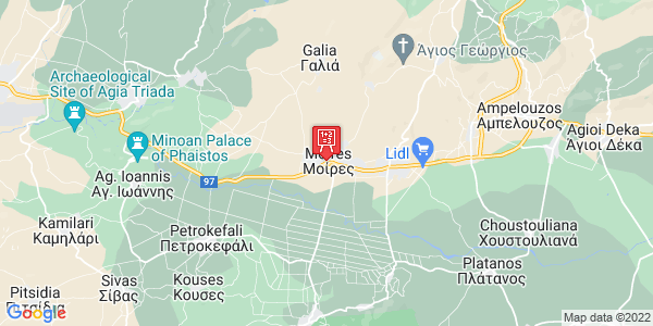 Google Map of 25ης Μαρτίου, Φαιστός, Ελλάδα