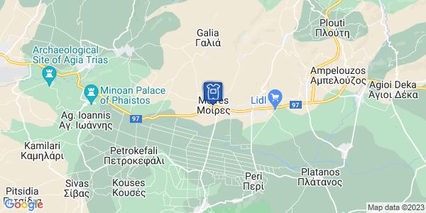 Google Map of 25ης Μαρτίου 250, Μοίρες, Κρήτη, Ελλάδα