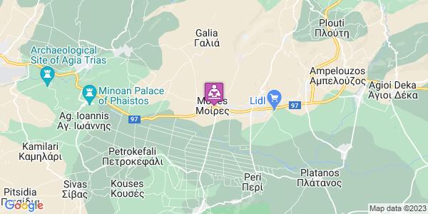Google Map of 25ης Μαρτίου 225, Μοίρες 704 00, Ελλάδα