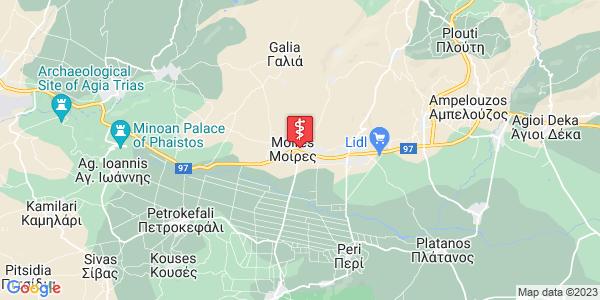 Google Map of Koraka 75, Mires 704 00, Greece