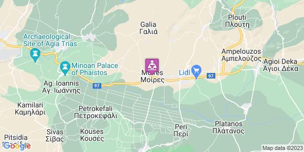 Google Map of Αγίας Παρασκευής 20, Μοίρες 704 00, Ελλάδα