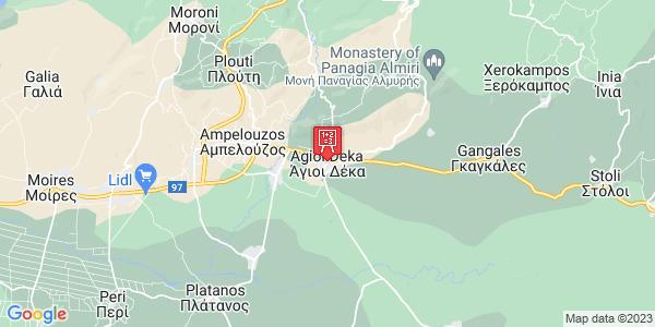 Google Map of Agioi Deka 700 12, Greece