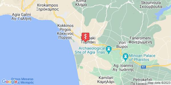 Google Map of Δημ Στεφανιδη, Τυμπάκι 702 00, Ελλάδα