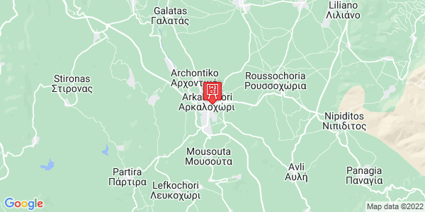 Google Map of Ιδομενέως 3, Arkalochori, Crete Region, Greece