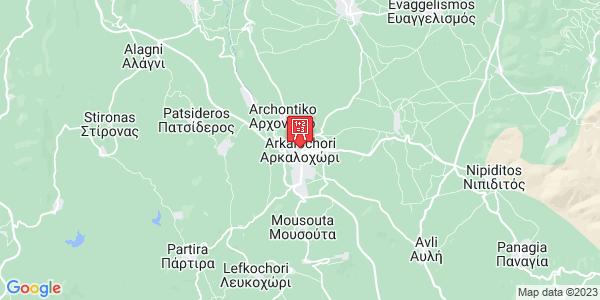 Google Map of Arkalochori 703 00, Greece